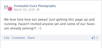 Frameable Faces Photography, Facebook, Social Media