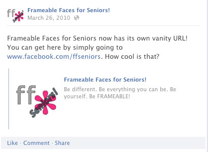 Frameable Faces for Seniors!