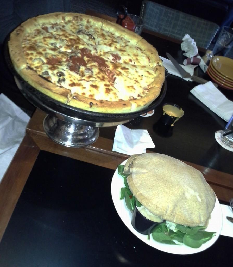 Pizza and Chipati