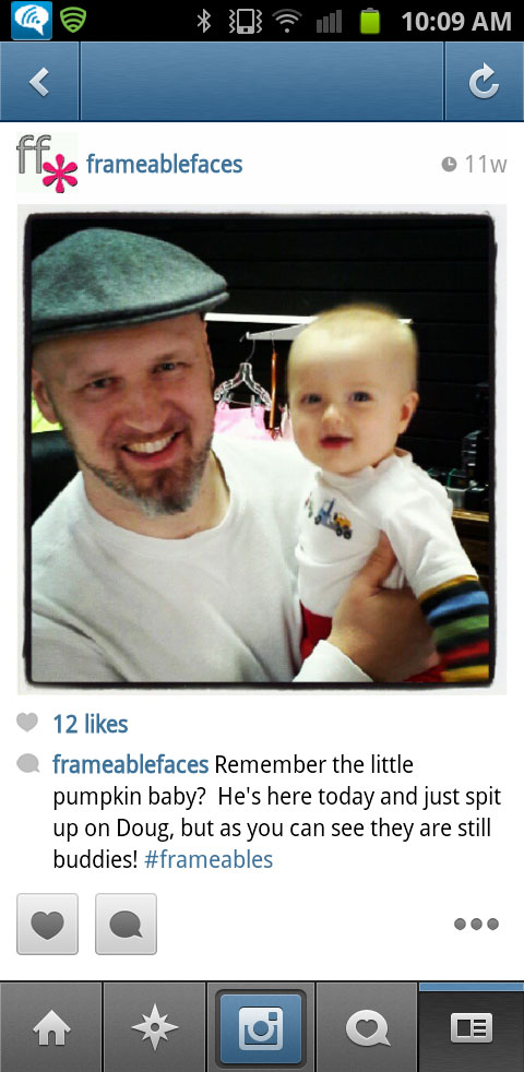 Frameable Faces Visits from #Frameables - Instagram