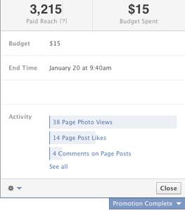 Facebook Total Promotion Details