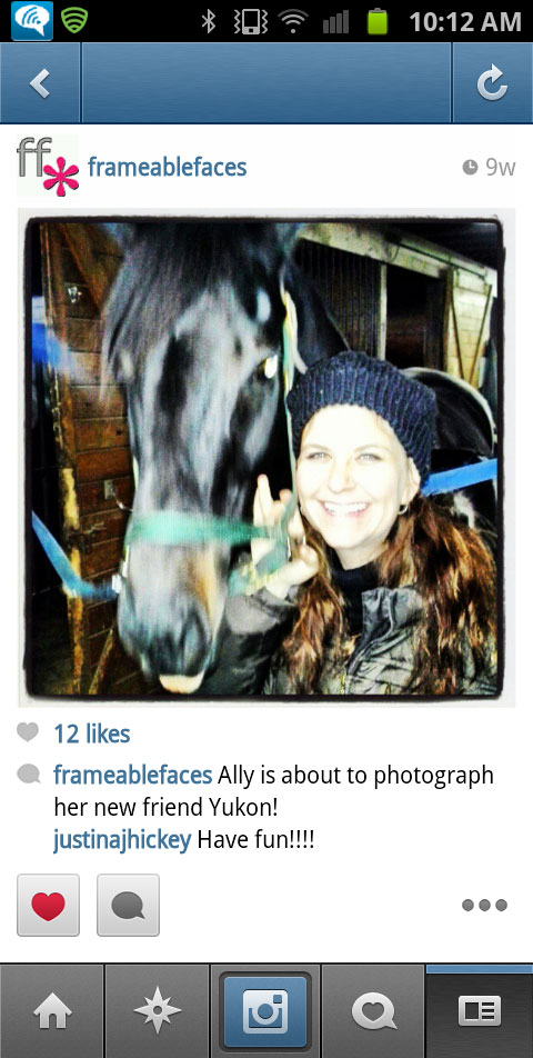 Ally Cohen with a nice horse named Yukon