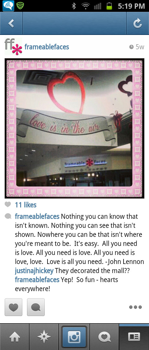 Valentine's Day at the Orchard Mall - Instagram