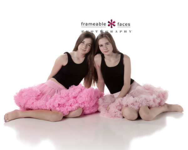 Frameable Faces Photography - Twin Sisters