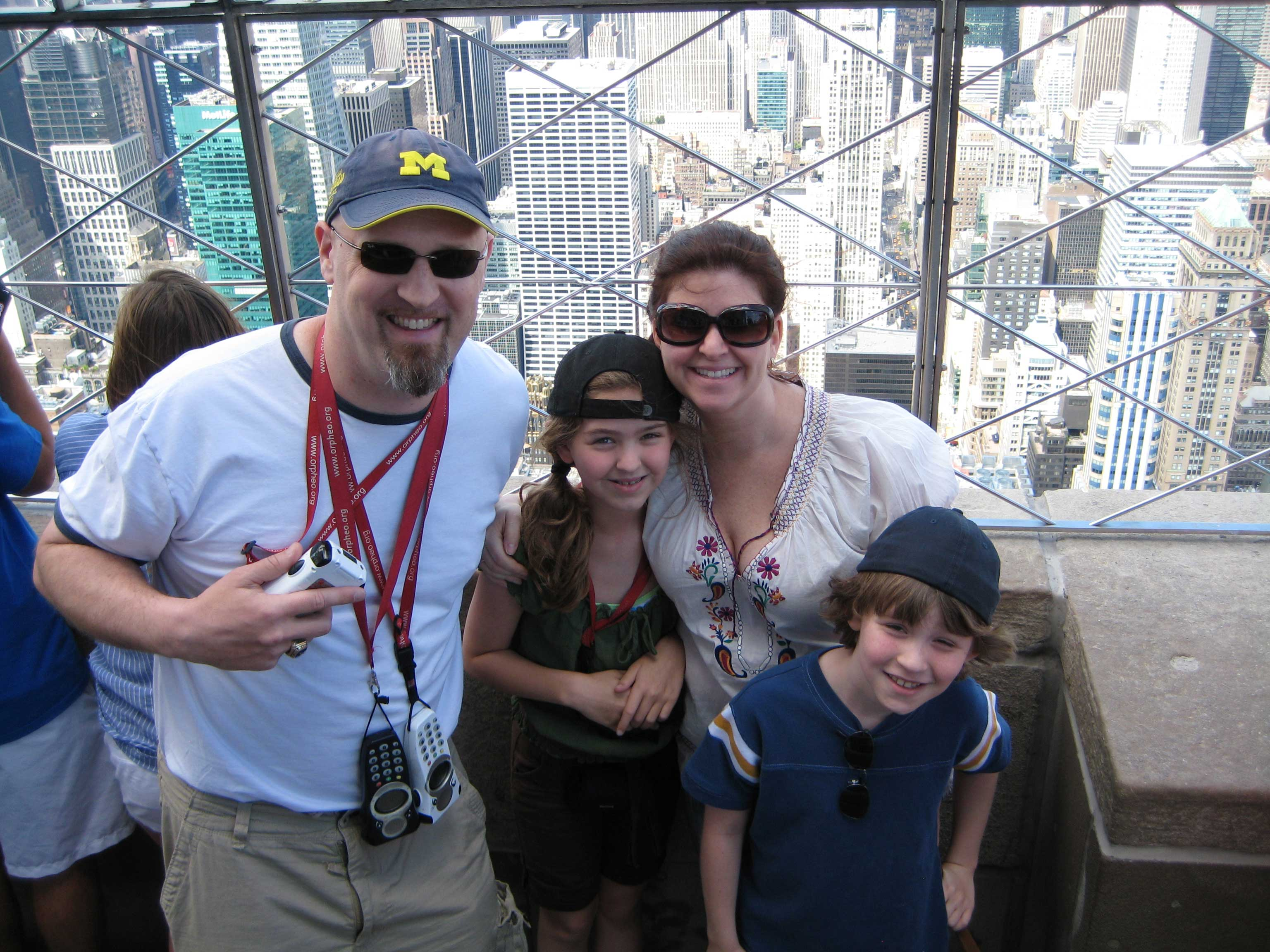 Family snapshot from the Empire State Building