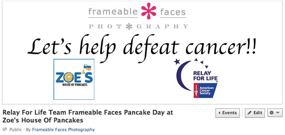 Relay For Life Fundraiser - Facebook photo