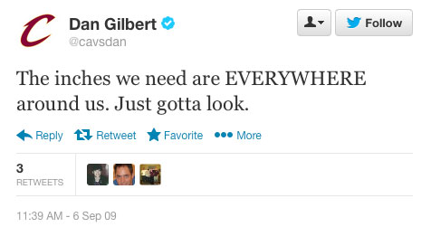 Dan Gilbert's first tweet
