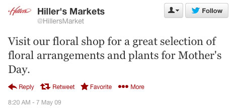Hillers Markets first tweet