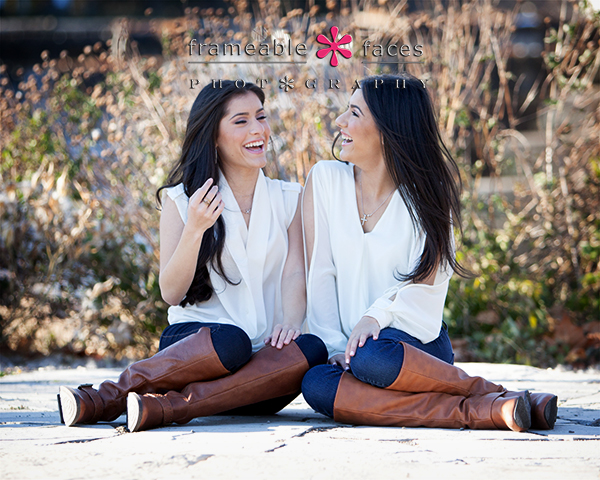 High School Senior Twins Portrait