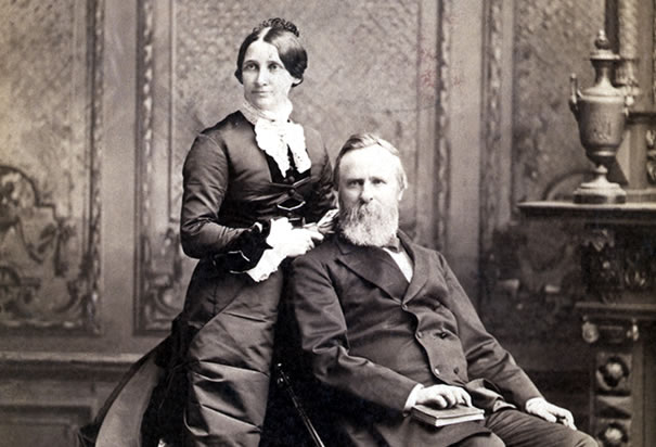 Rutherford and Lucy Hayes