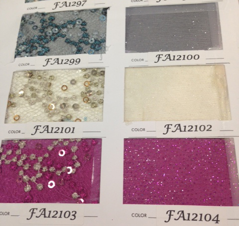 Color fabric swatches